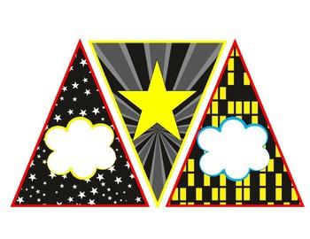 Super Heroes Pennant Banner