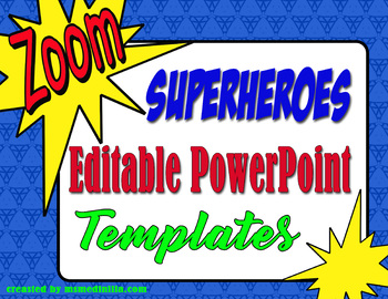 super heroes powerpoint slide template by ms med designs tpt