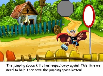 Super Heroes Save the Space Kitten's!  An Interactive Game --by Mrs. Davenport