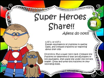 Super Heroes Share Fractions!!