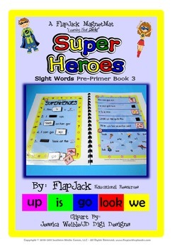 Super Heroes Sight Word MagnetMat Fun