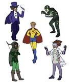 Super Heroes-Super Schoolers Character Posters