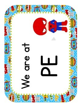"""Super Heroes Themed """"Where We Are"""" Cards"""