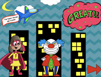 Super Heroes vs. Villains!! An Interactive PowerPoint Game!
