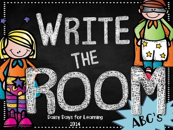 Super Heroes Write the Room: ABC's Edition