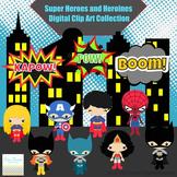 Super Heroes and Heroines Series 1 Digital clip Art Set