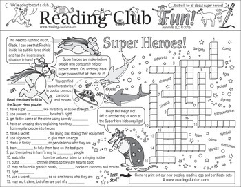 Super Heroes and Super Powers Two-Page Activity Set