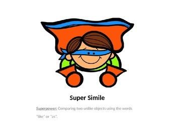 Super Heroes of Language Arts Figurative Language Lesson