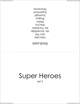 Super Heroes (set II) Picture Flashcards