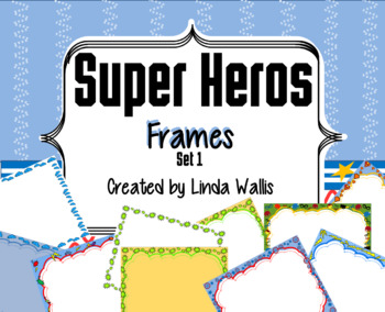 Super Heros Borders set1