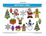 Super Holiday Stencils - Winter Edition - 8 fun designs