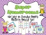 Super Homerooms Returning Books On Time Bulletin Board Set