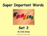 Super Important Words Set 3