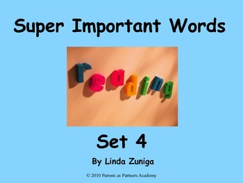 Super Important Words Set 4