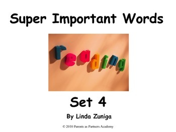 Super Important Words Set 4 For Printing