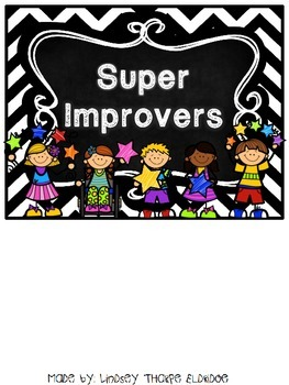 Super Improvement Chart - Chalkboard Theme