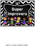 Super Improvement Chart - Chalkboard Theme