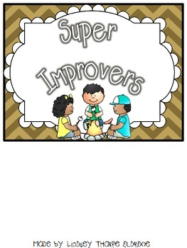 Super Improvement Chart - Camping Theme