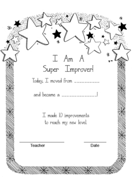 Super Improver Parent Note