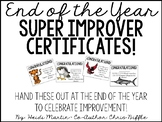 Super Improver Team - End of the Year Certificates (Whole