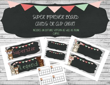 Super Improver Wall Cards/Behavior Clip Chart
