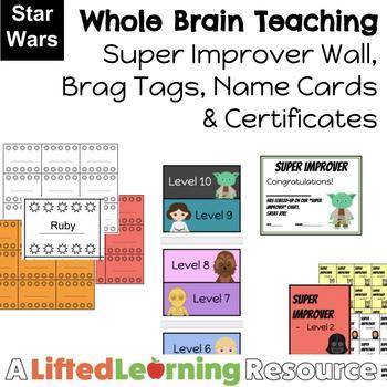 Whole Brain Teaching Super Improver Wall - Star Wars Theme