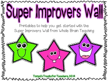 Super Improver Wall ~ Whole Brain Teaching