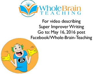 Super Improver Writing Program