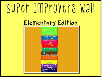 Super Improvers Wall Elementary Animal Edition