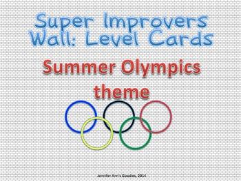 Super Improvers Wall Level Labels: Olympics (Summer)
