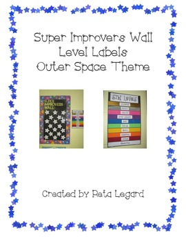 Super Improvers Wall Level Labels - Outer Space Theme