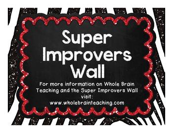 Super Improvers Wall - Zebra Print