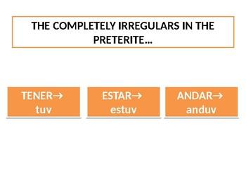 Super Irregular Preterite White Board Practice (English Prompts)