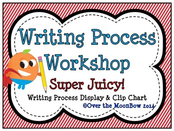 Super Juicy! Writing Process Workshop Displays & Clip Chart