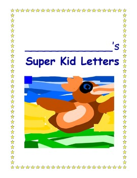 Super Kid Letter Paper or Sticker