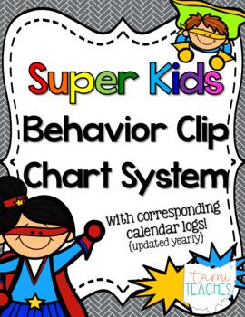 Superhero Kids Behavior Clip Charts