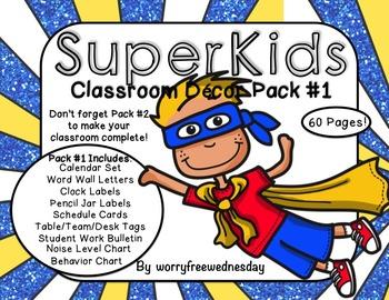 Super Kids Classroom Decor Pack #1