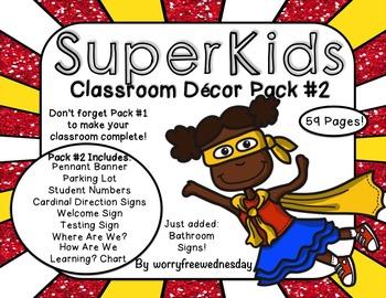 Super Kids Classroom Decor Pack #2