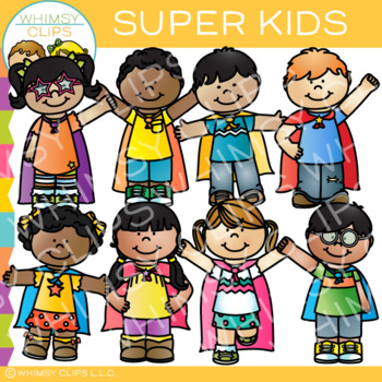 Super Kids Clip Art