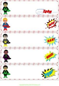 Super Kids Desk/locker Labels
