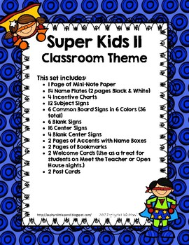 Super Kids II {Classroom Theme}