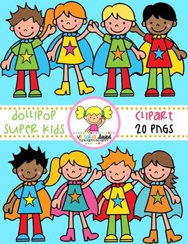 Super Kids {Kids Clipart}