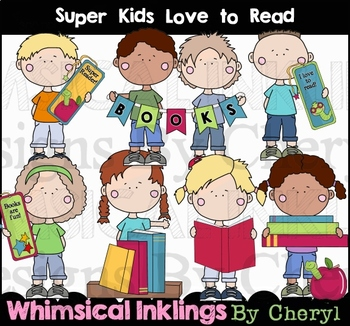 Super Kids Learn To Read Clipart Collection