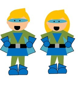 Super Kids Super Heroes Clip Art