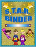 Super Kids Theme ~S.T.A.R. ~Students That Are Responsible~ BINDER COVER PAGE