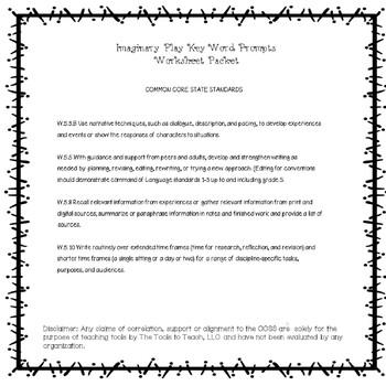 Kids in Disguise Academic Words ELA Writing Prompts