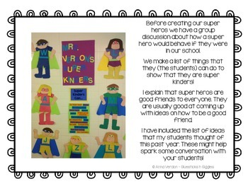Super Kinders - Behavior at School - Craftivity