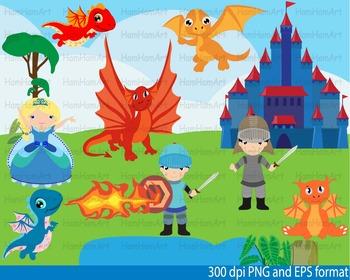 Super Knights and Dragons Clip Art school halloween birthd