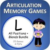 L PowerPoint Memory Games Bundle - Articulation - Digital