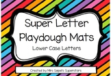 Super Letter Playdough Mats - BUNDLE - Lower and Upper case letters